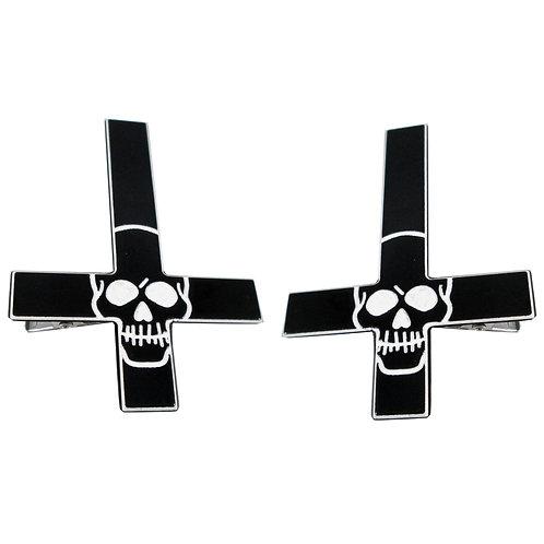 Kreepsville666 - Inverted Cross Skull Hairslide