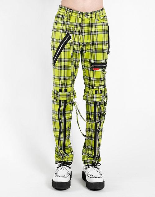 Tripp NYC-Lime Tartan Plaid Bondage Pants
