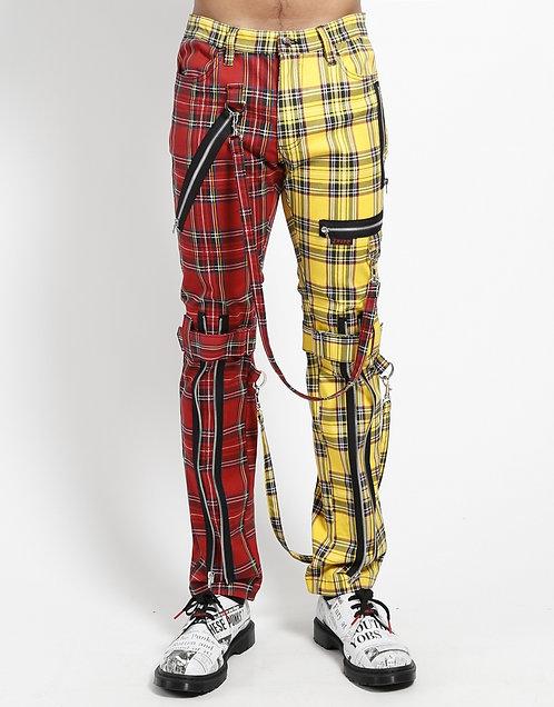 Tripp NYC-Red/Yellow Plaid Split Bondage Pants