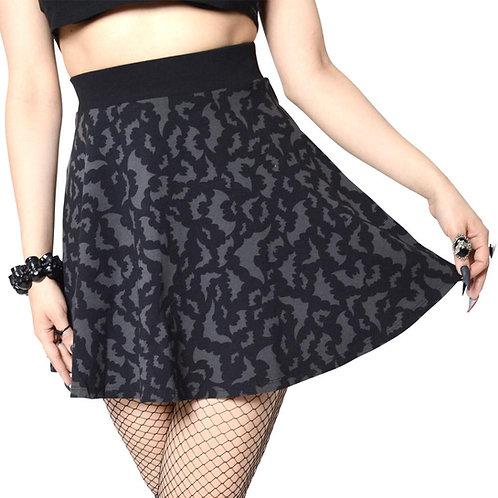 Kreepsville 666-Bat Repeat Skater Skirt
