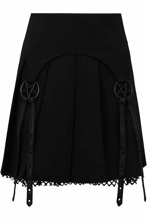 Killstar- Crucifire Mini Skirt