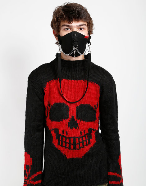Tripp NYC- Black Spike & Chain Facemask