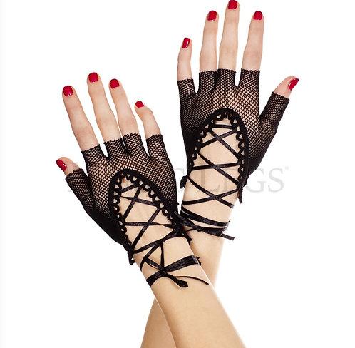 Fishnet Gloves Lace Up