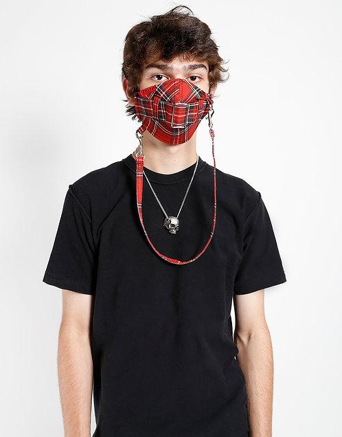Tripp NYC- Red Tartan Facemask