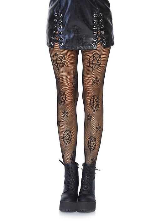 Leg Avenue - Occult Symbol Fishnet Tights
