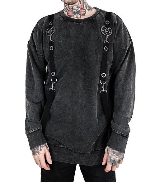 Killstar - Vintage Washed Pentagram Sweater