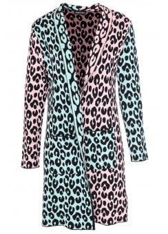 Jawbreaker - Multi-Pastel Leopard Cardigan