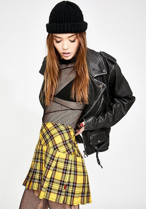 Tripp NYC - Pleated Skirt Yellow Plaid