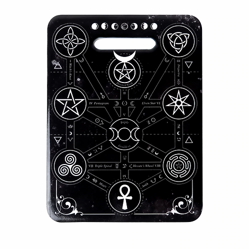 Alchemy of England - Magic Symbols Cutting Board