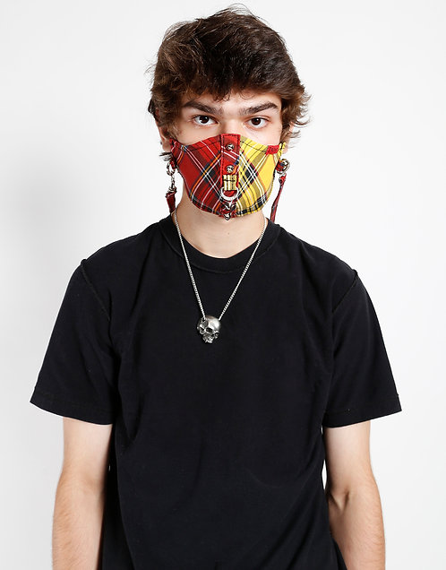 Tripp NYC- Red/Yellow Tartan Facemask