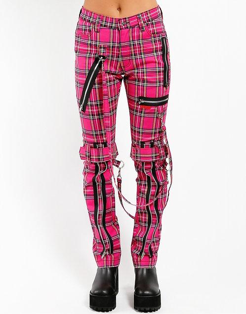 Tripp NYC- Pink Plaid Bondage Pants