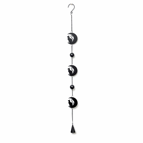 Alchemy of England - Black Cat and Moon Wind Chime