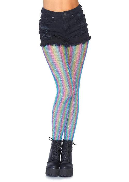 Leg Avenue - Rainbow Fishnet Tights