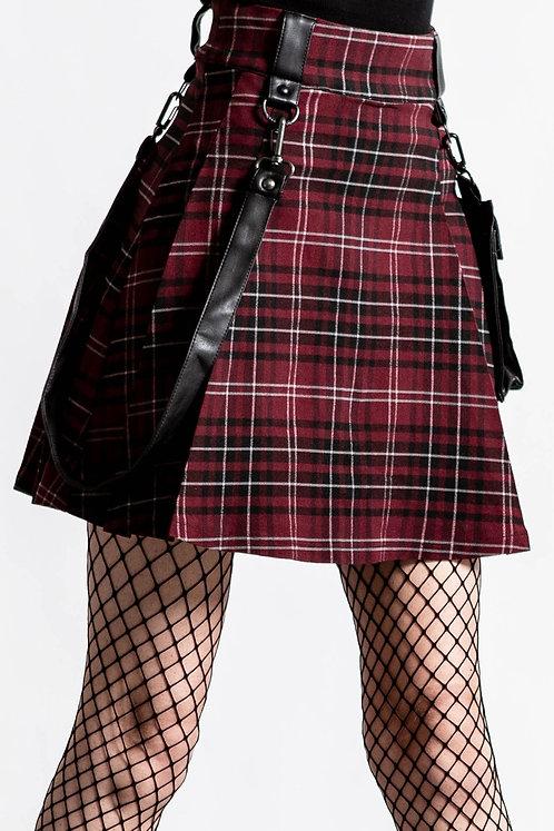 Killstar-Gunner Pleated Skirt