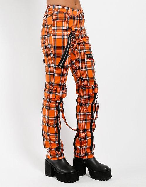 Tripp NYC- Orange Plaid Bondage Pants