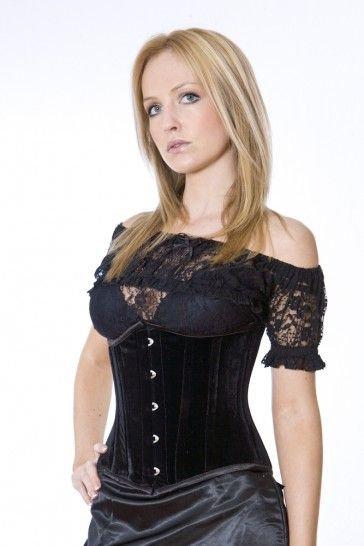 Burleska - Candy Black Velvet Under Bust