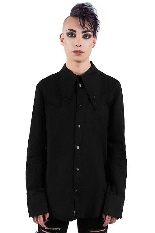 Killstar- Crucifaction Button Up Shirt