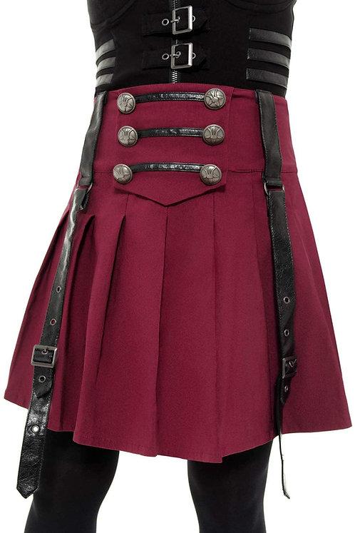 Killstar - Dark Academy Mini Skirt (BLOOD)