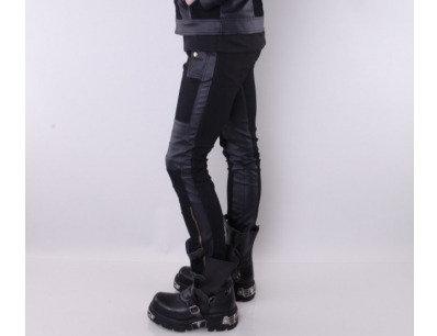 Pentagramme - Black Leather Steampunk Pant