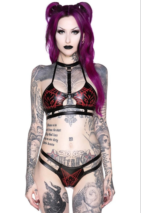 Killstar- Raising Hell Cage Bralette & Panty Set