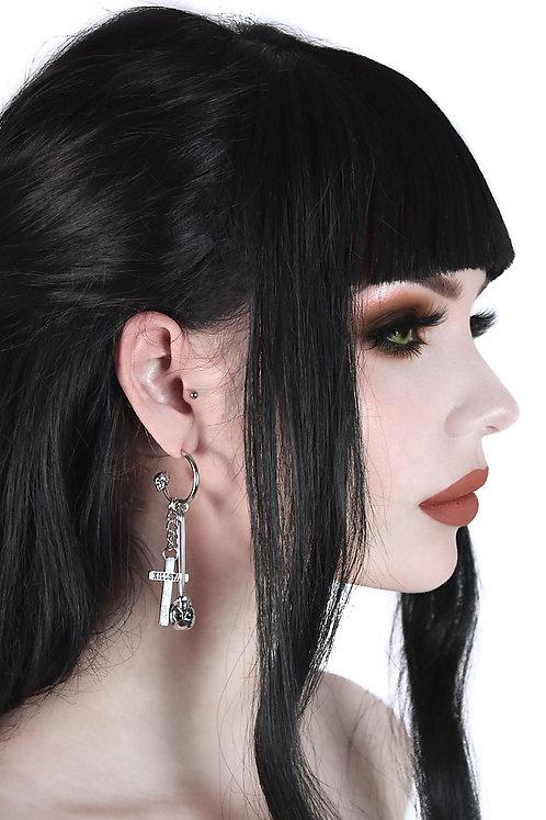 Killstar- Catacomb Earrings ( Sliver)