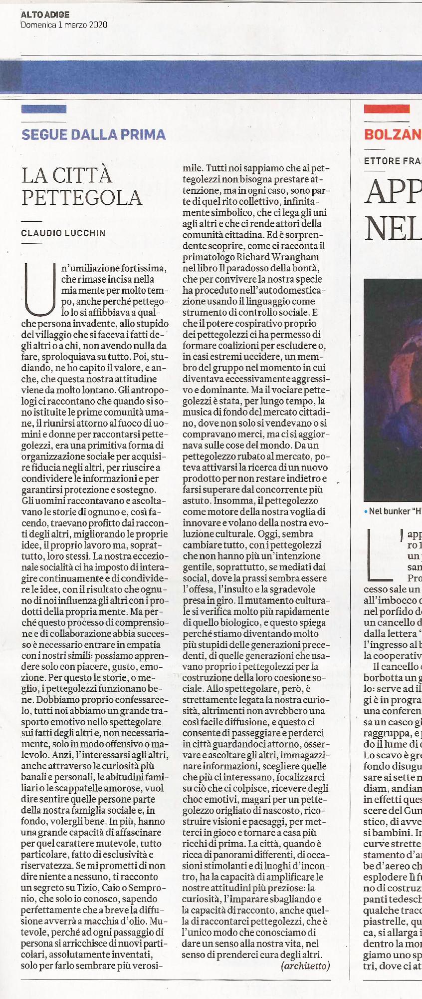Alto Adige 01.03.2020