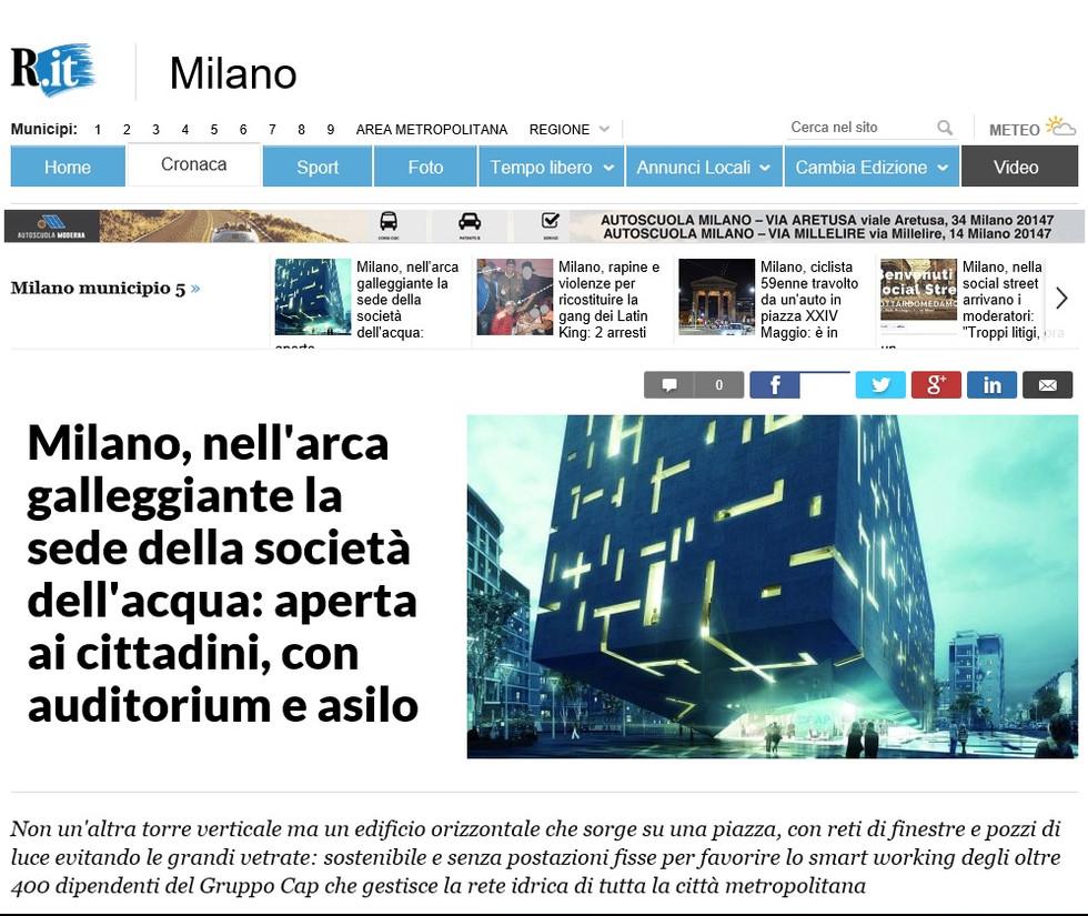 La nuova sede CAP su Repubblica.it