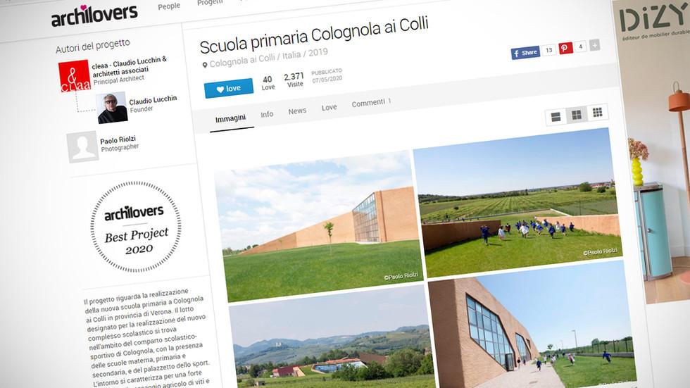 Scuola Colognola ai Colli archilovers Best Project 2020