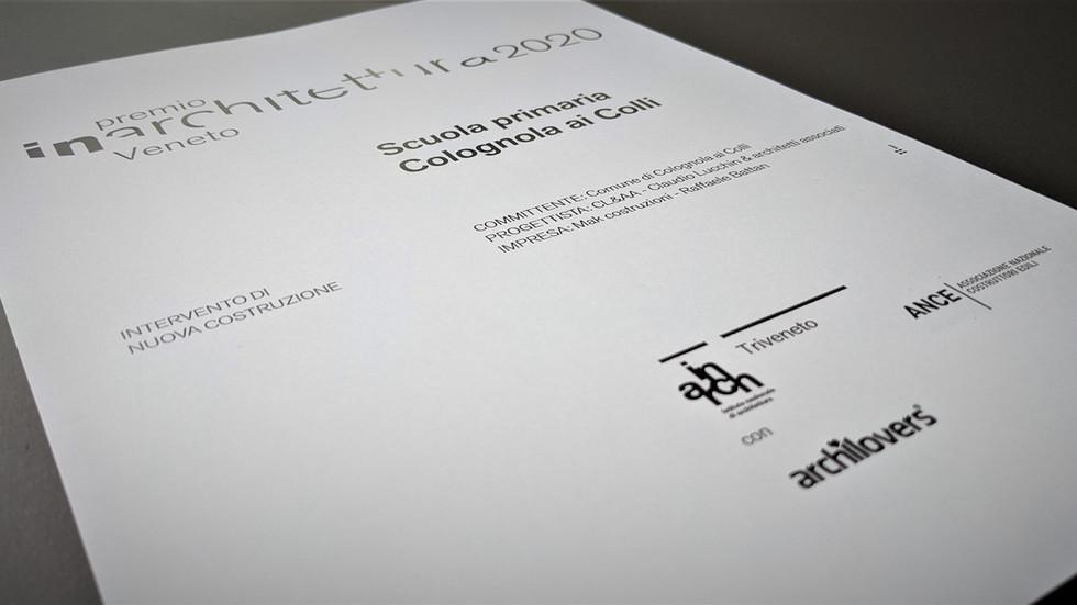 Scuola Colognola ai Colli vince il premio INARCH Triveneto
