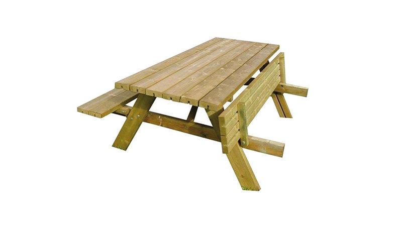 Table pique-nique ECO - En lame de pin massif