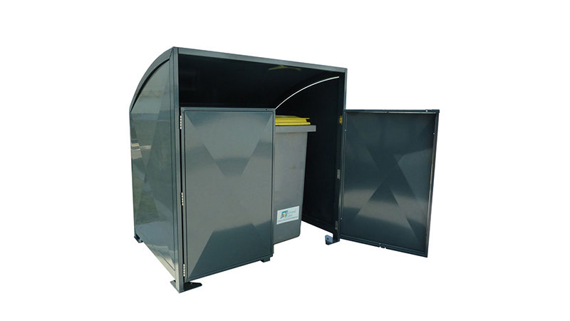 Abri conteneur metal PLESSIS