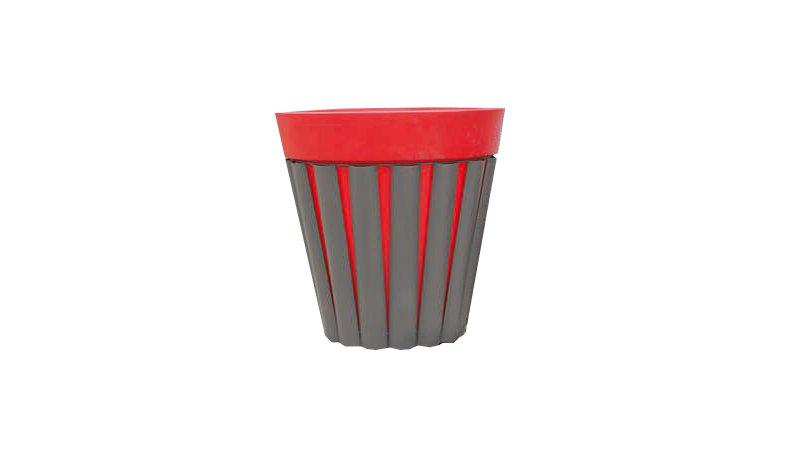 Habillage LAME ACIER pour pot rond polyéthylène