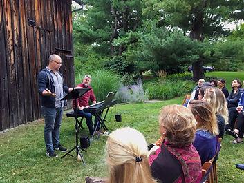 Chris Miller and Nathan Tysen at Rhinebeck Writers Retreat