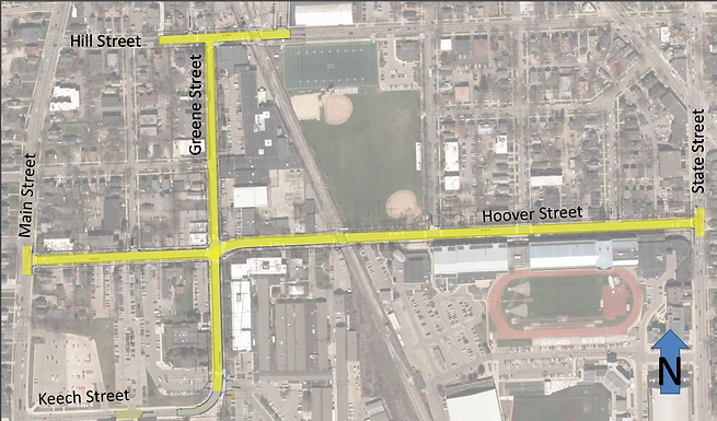 Hoover/Greene/Hill construction begins May 6th