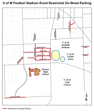 Road Closures and Parking Restrictions near Michigan Stadium Aug 10th for Soccer Event