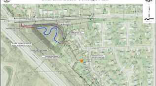 Churchill Downs Park Stormwater Basin Project Walkthrough Sept 24th