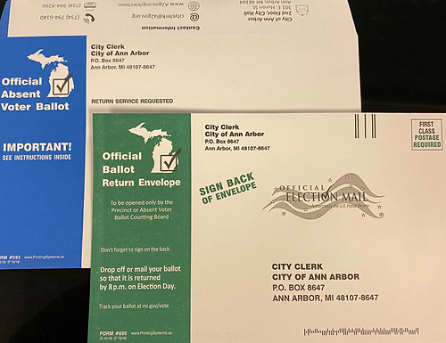 Absentee Ballot Envelopes have a New Appearance