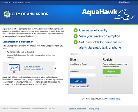 Free Online Water Consumption Tool Now Available to Ann Arbor Water Customers