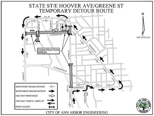 South State Street Traffic Control Plan Aug 2-29