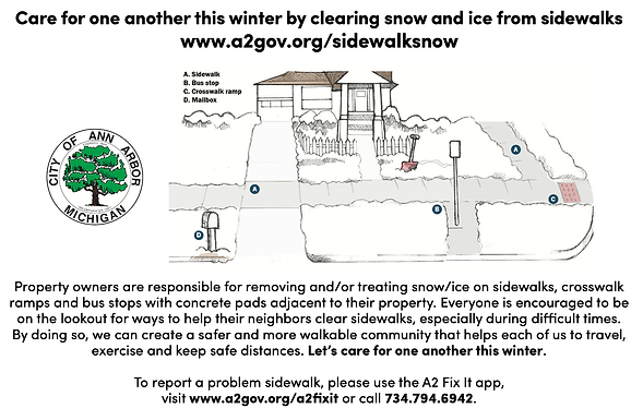 Sidewalk Snow/Ice Removal Reminder from the City