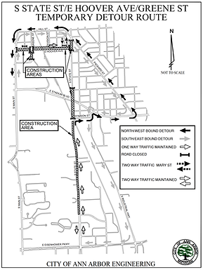 South State Street Traffic Control Plan updated for Aug 19-29