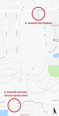 Online survey for Seventh/Scio Church and Seventh/Stadium intersections