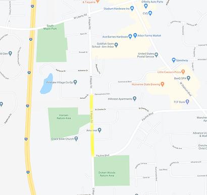 South Maple traffic control plan on Feb 11th