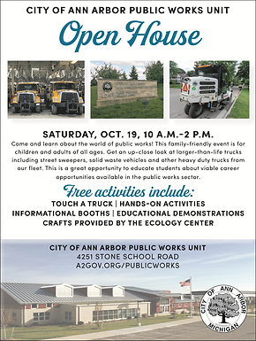 Public Works Open House Oct 19th