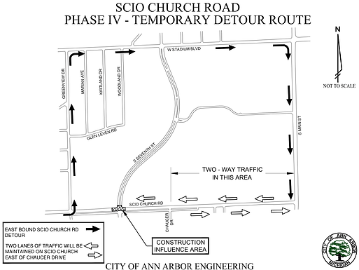 Scio Church Road / Seventh Ave detour begins May 21st