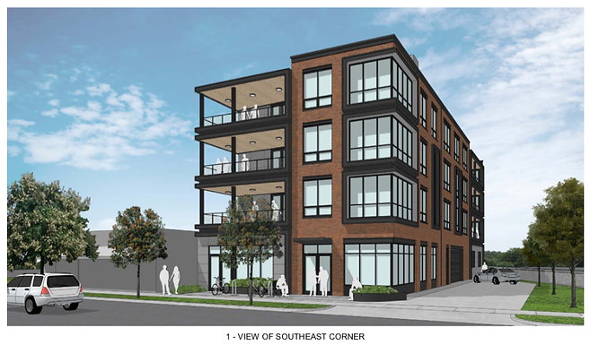 Site Plan filed for 327 E Hoover