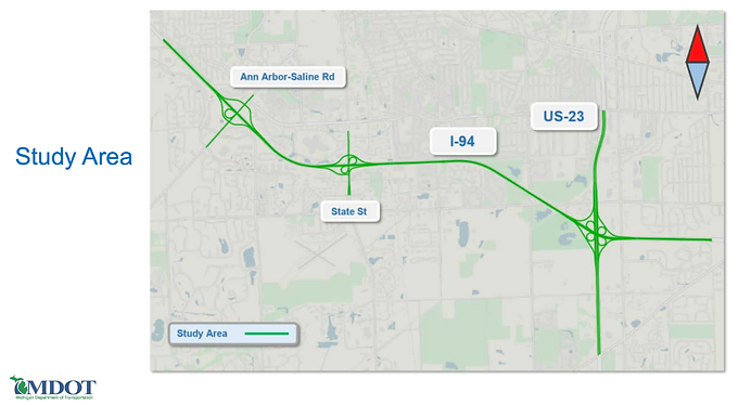 MDOT Survey for I-94 between Ann Arbor-Saline Road and US-23