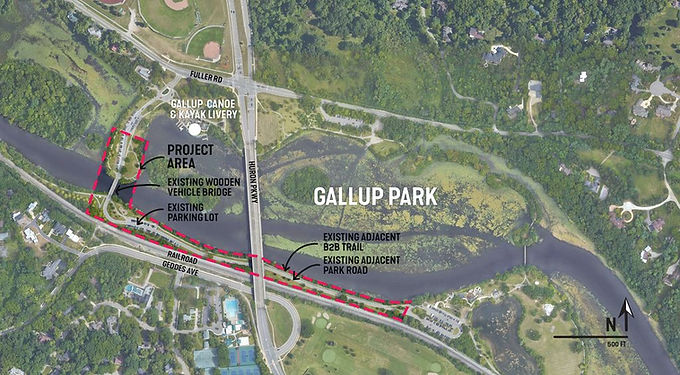 Gallup Park Vehicle Bridge Survey open until Aug 13th