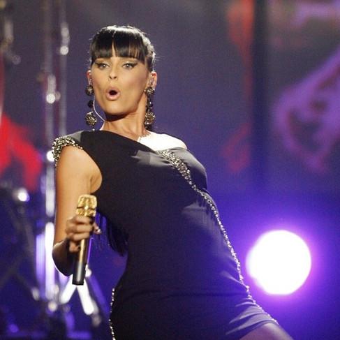 Nelly Furtado wearing SLJ Earrings