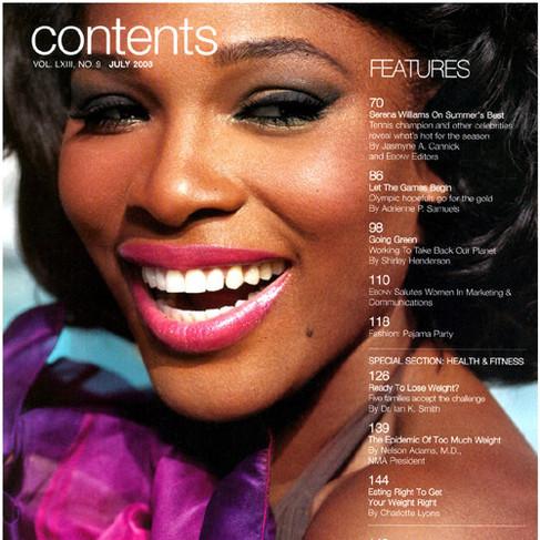 Serena Willams Wearing SLJ ring for Ebony Magazine
